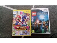 2 Wii games Harry potter. Mario and Sonic at the London 2012 Olympic games