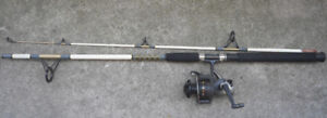 """Zebco 6'6"""" Medium-Heavy Spinning Fishing Rod with a Shimano Reel"""