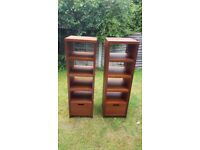 Solid wood shelf cabinet x2