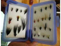 Box of fishing flies