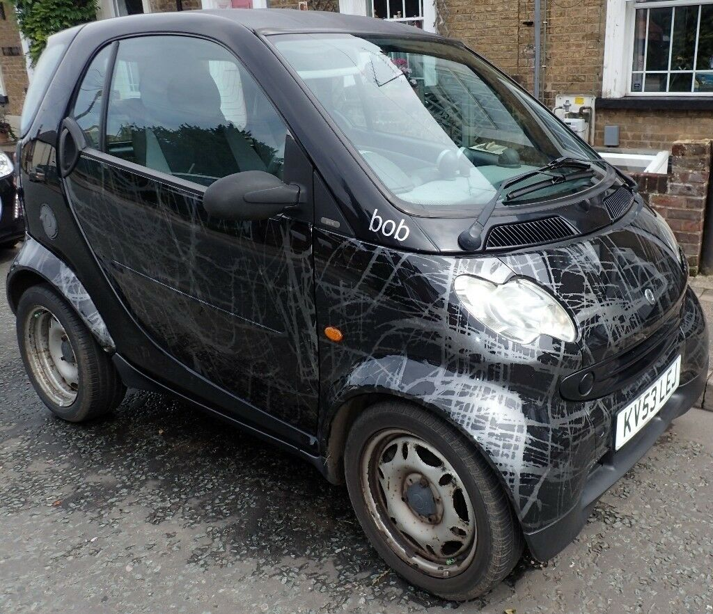 Smart Car Pure Coupe: 'bob' Smart Car Pure In 'Scratch Black' 74,000 Miles 12