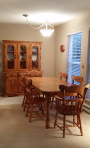 Solid Wood Hutch & Table