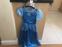Girls Disney Cinderella Costume with Tiara