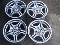 """Refurb Genuine set alloy wheels 17"""" BMW Staggered 1 3 series e46 M Sport Delivery available"""
