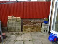 Selection of block paving and edging