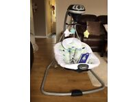 Graco Simple Sway Swing - Stratus - nearly new