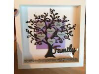 Personalised family tree frames - perfect for living room home wedding anniversary