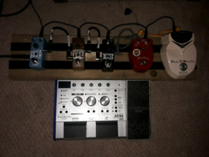 Multiple effects pedals