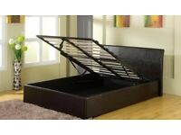 double leather storage bed can deliver