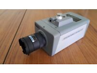 Used 12V CCTV Box analog camera with 3.5 - 8mm Variofocal lens