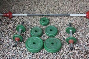 York Steel Plate Barbell Set