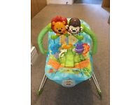 Fisher Price Rainforest Bouncer and Baby Gym