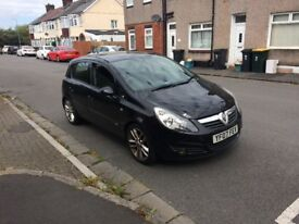 Ideal 1st car Vauxhall Corsa 2007 reg in black 5 door with long mot ,px welcome