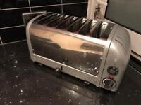 Nearly new Dualit 6 sliced toaster great catering cafe toaster long lasting mint condition
