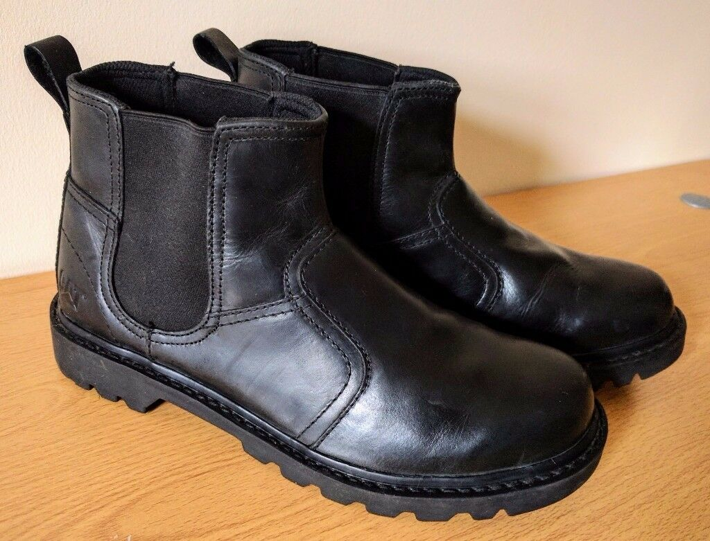 Caterpillar CAT Thornberry Black Leather Boots. UK size 8.