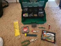 Fishing tackle, box equipment, lures, spinners