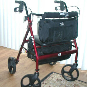 Ambulateur / marchette HUGO Elite, Rouge grenat