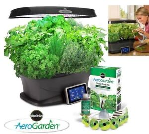 NEW MIRACLE-GRO AEROGARDEN BOUNTY WITH GOURMET HERB SEED STARTER