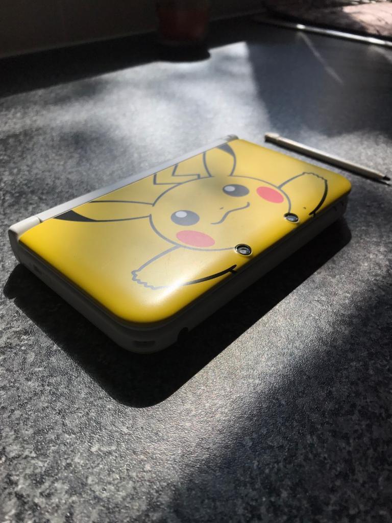 Nintendo 3ds Xl Pikachu Pokemon Limited Edition In Darlington New Yellow