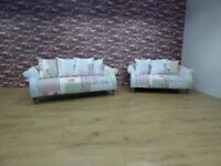 DFS DOLL PATCHWORK 2 X 3 SEATER SOFAS CAN DLEIVER