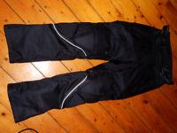 Like new: Turin Waterproof Motorcycle Trousers. Black. 32/32. Motorbike Protection.