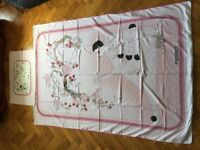 Pierrot single duvet cover and matching pillow case