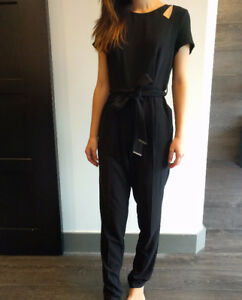 NewLook Black Jumpsuit with Shoulder Cut-Outs