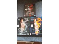 Set of Girl with the Dragon Tattoo trilogy DVDs watched once *Original Versions*
