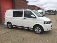 2013 13 plate vw t5.1 transporter t28 kombi trendline tdi 105 bhp swb white vgc no vat