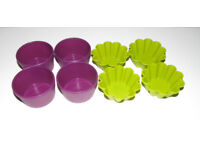 8 x Lakeland cupcake and muffins silicone baking cases