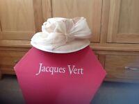 JACQUES VERT LADIES HAT, BEIGE/CREAM