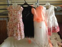 X4 girls party dresses 5-6