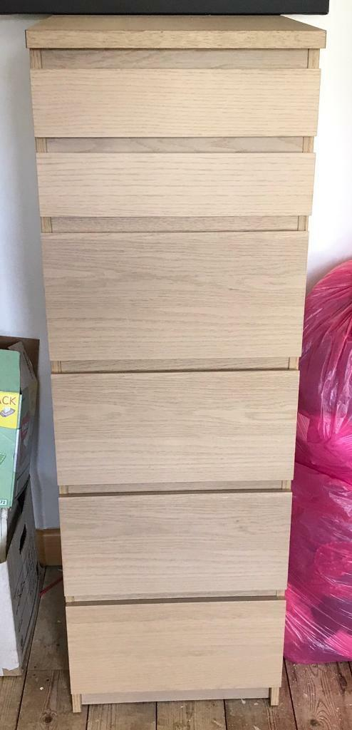 Tall boy- chest of drawers -light oak
