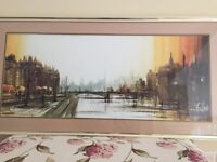 Large picture has been professionally framed including mount