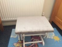 Gliding nursing chair and stool