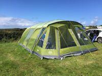 Vango Taiga 600XL Airbeam Tent with carpet & footprint + camping accessories job lot