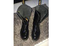 14 hole black doc marten boots size 10