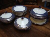 Vintage Woods Ware – 3 Tureens, Ladle and 8 Bowls