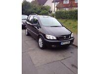 2004 (53 Reg) Vauxhall Zafira Club 16v 1.8 Petrol Auto - 5 Door MPV 7 Seater - Black