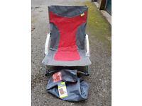 New Kampa Sandy Low Level Folding Camp Chair (Red/Grey)