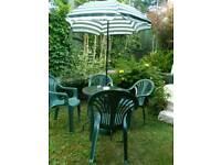 Garden Table chairs parasol base