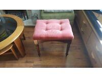 Vintage Retro Style Dressing Table Stool Piano Stool Footstool Foot Stool Pouffe Bedside Table