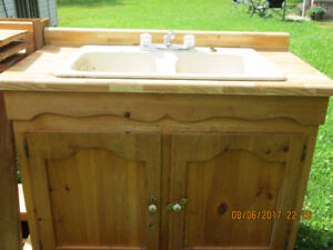 Used Cabinet and Sink. Doors