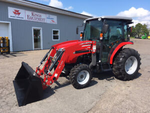 Massey Ferguson 54hp Cab Tractor with Loader - REDUCED