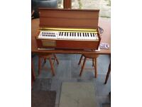 Tabletop wooden electric piano accordion