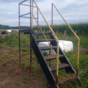 Metal stairs and platform for sale
