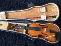 Full Size Violin with Bow and Case