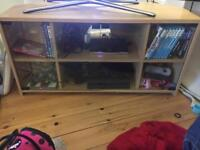 Glass fronted tv display unit