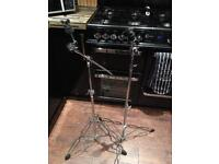 Various cymbal stands