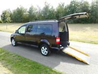 2013 Volkswagen Caddy Maxi 1.6 Tdi 14K 7 Seats WHEELCHAIR ACCESSIBLE VEHICLE WAV